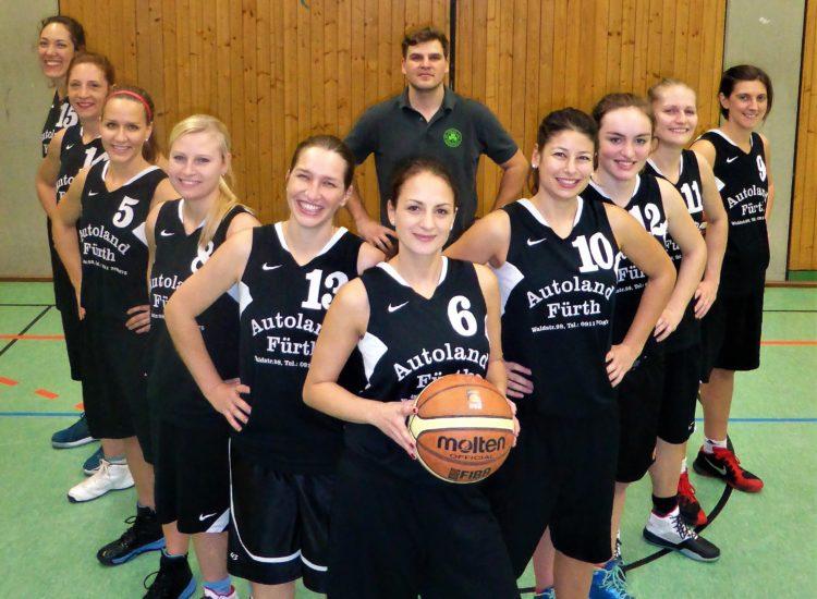 Mannschaftsfoto der Damen des TV 1860 Fürth