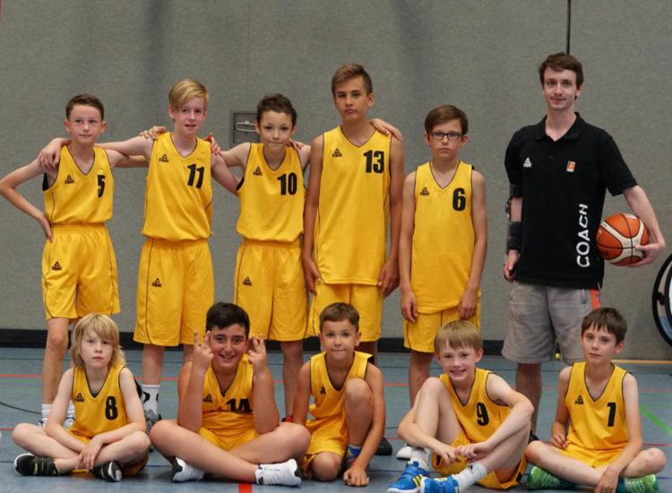 Mannschaftsfoto der U12 Minis des TV 1860 Fürth