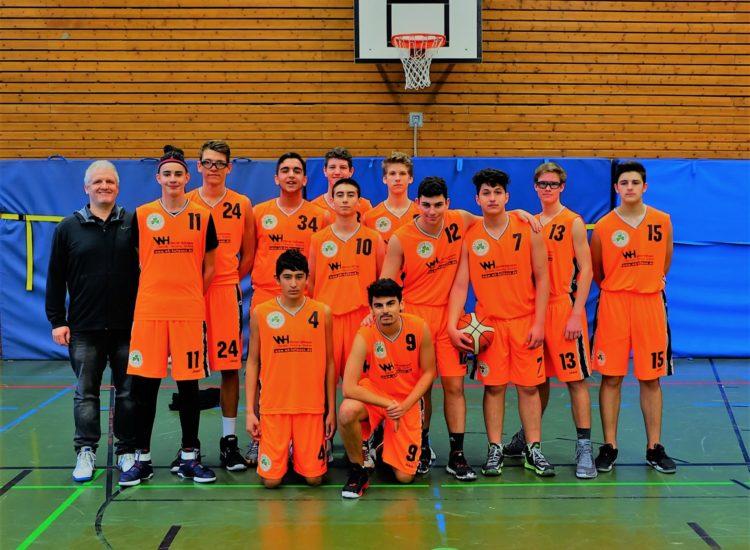 Mannschaftsfoto der U18 Männlich des TV 1860 Fürth