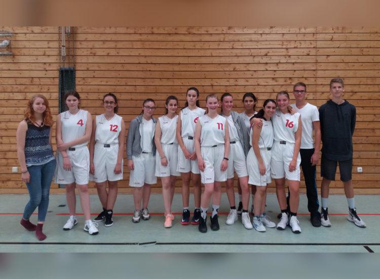 Mannschaftsfoto der U18 Weiblich des TV 1860 Fürth