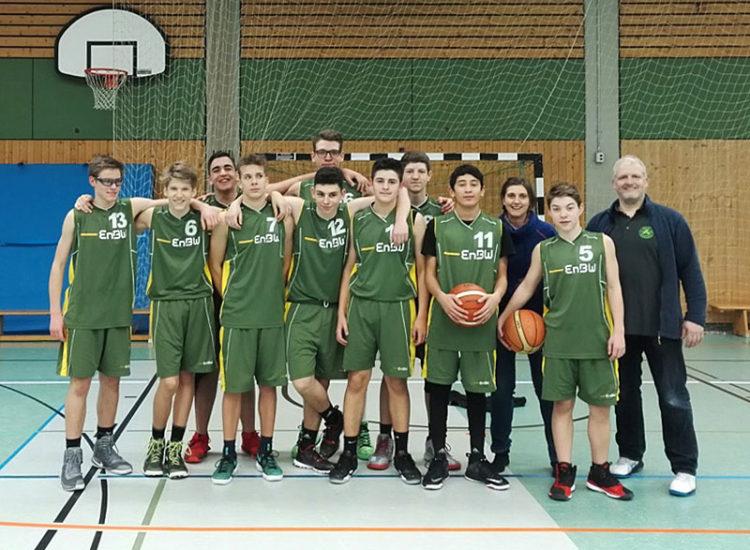 Mannschaftsfoto der U16 Männlich des TV 1860 Fürth